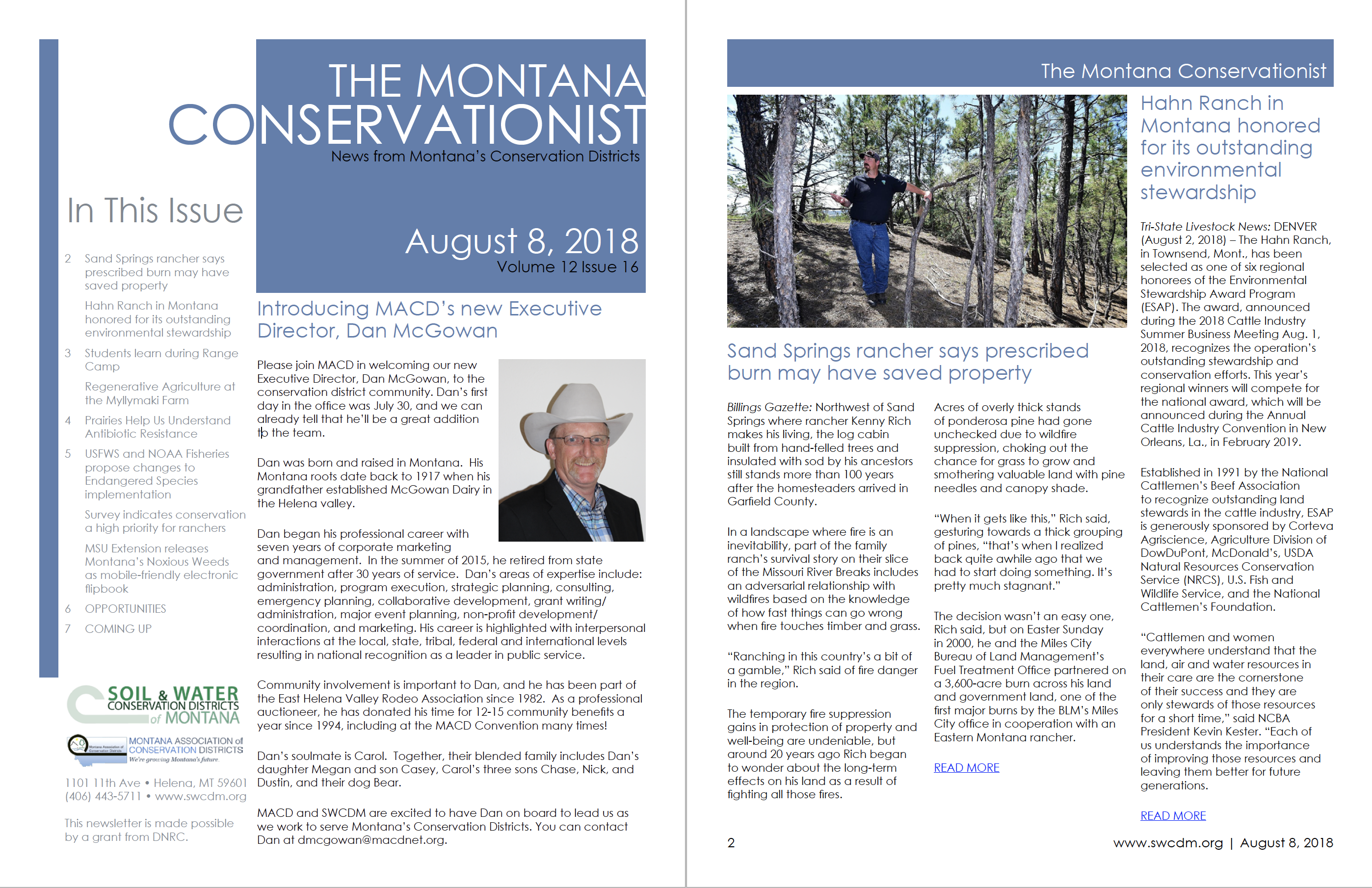 The Montana Conservationist, August 8