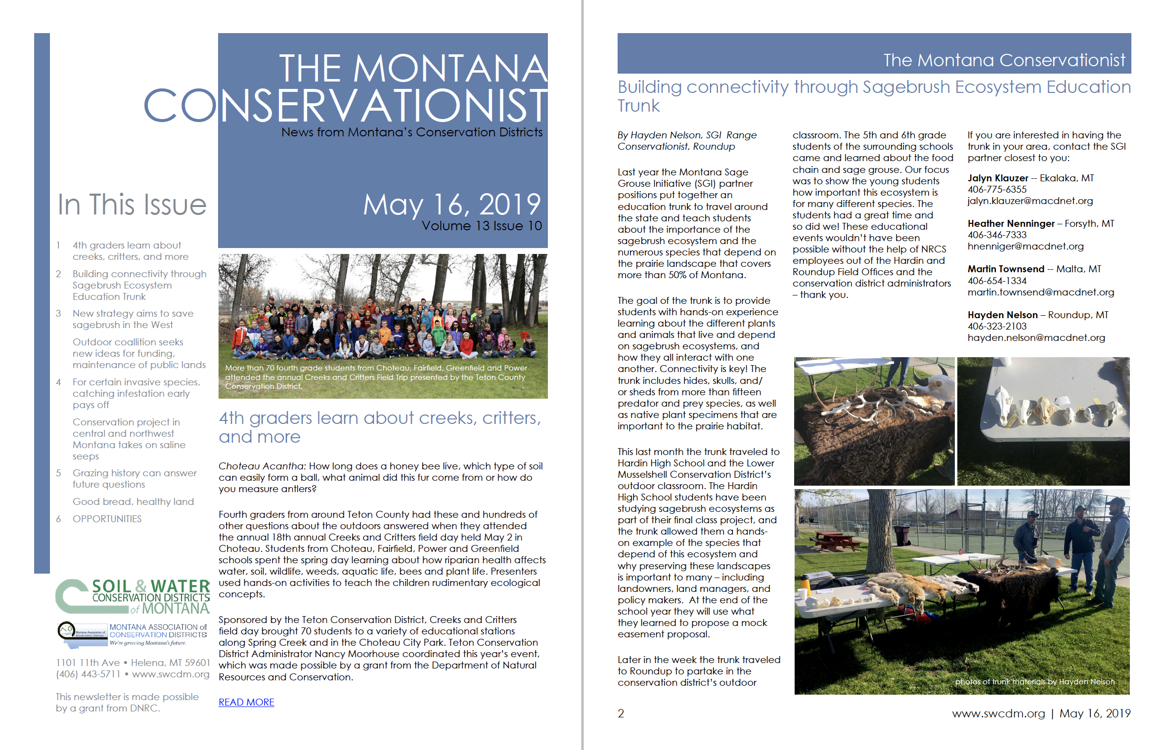 The Montana Conservationist, May 16